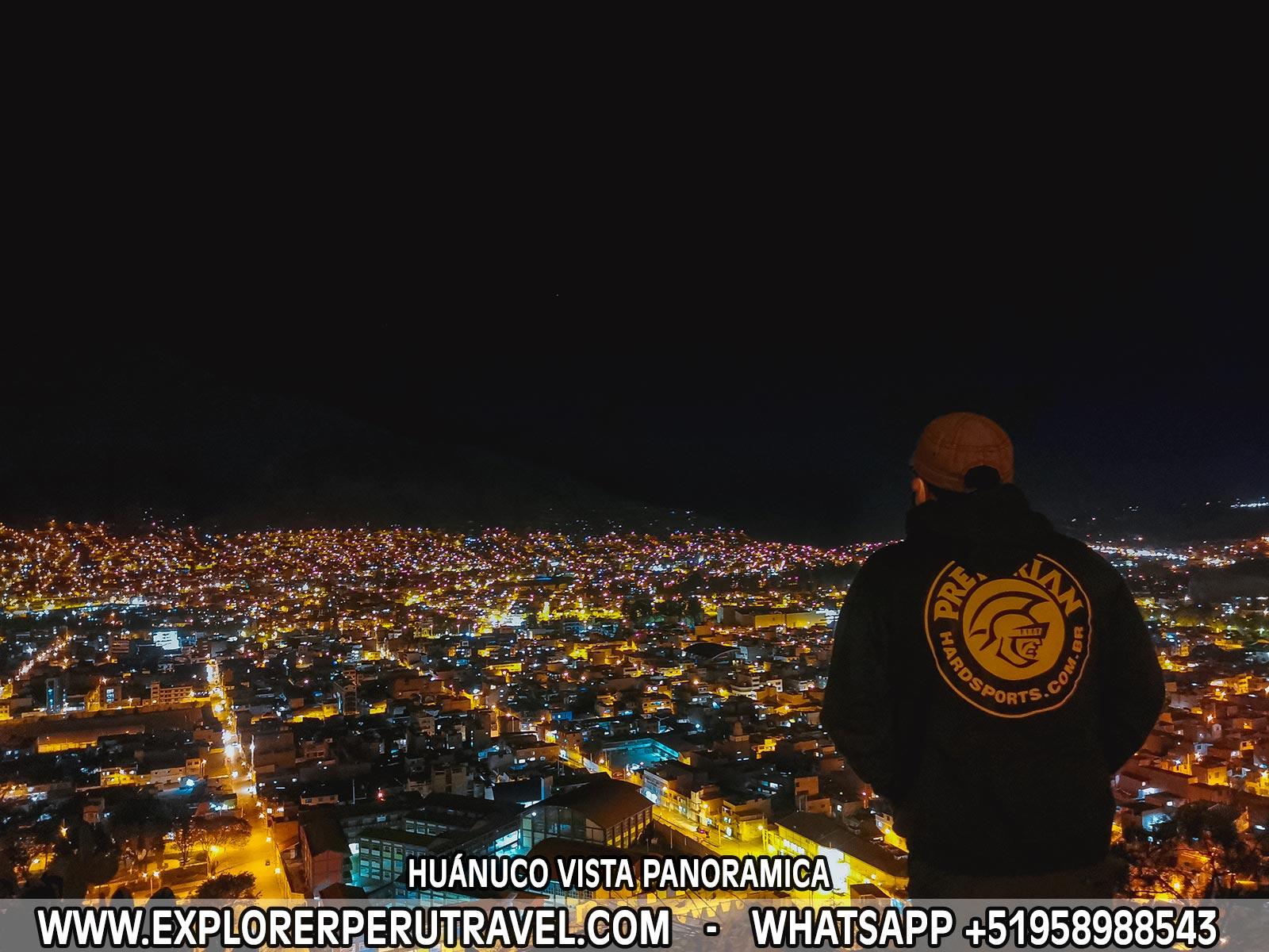 HUÁNUCO DE NOCHES VISTA PANORAMICA
